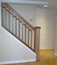 Renovated basement staircase in Aberdeen