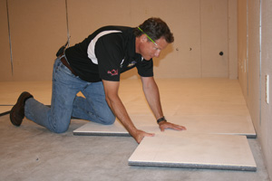 Installing ThermalDry® insulated floor decking in Olympia