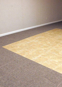 Basement Wood Flooring installed in Rochester, Washington