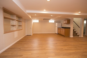 Basement finishing flooring in Olympia & nearby