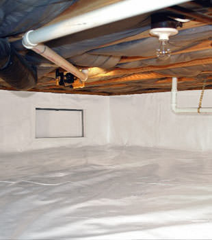 A complete crawl space repair system in Shelton