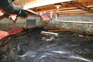 Crawl Space Repair Before in Olympia