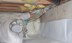 Crawl space vapor barrier system in Poulsbo, Washington