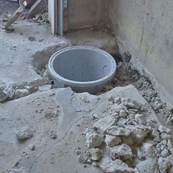 Placing a sump pit in a Elma home