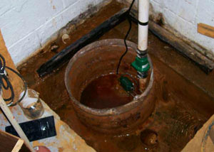 Extreme clogging and rust in a Shelton sump pump system