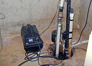Pedestal sump pump system installed in a home in Gig Harbor