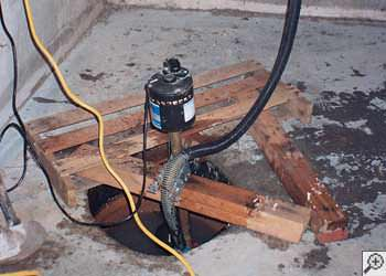 A Gig Harbor sump pump system that failed and lead to a basement flood.