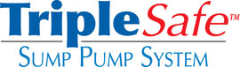 Sump pump system logo for our TripleSafe™, available in areas like Elma