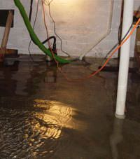 Several feet of floodwaters in a Suquamish basement