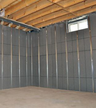 Installed basement wall panels installed in Tacoma